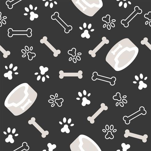thème de modèle de chien sans soudure, os, empreinte de patte pour une utilisation comme papier peint ou fond
