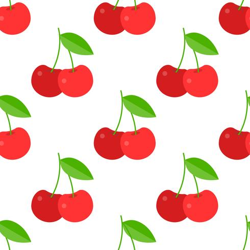Cherry seamless pattern for use as wrapping paper gift or wallpaper vector