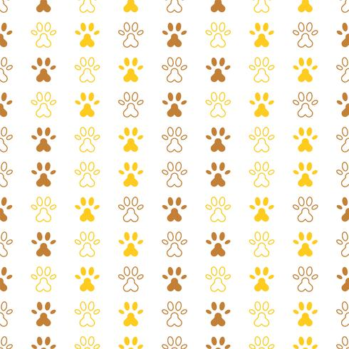 seamless pattern of paw foot print for wrapping paper or use as background
