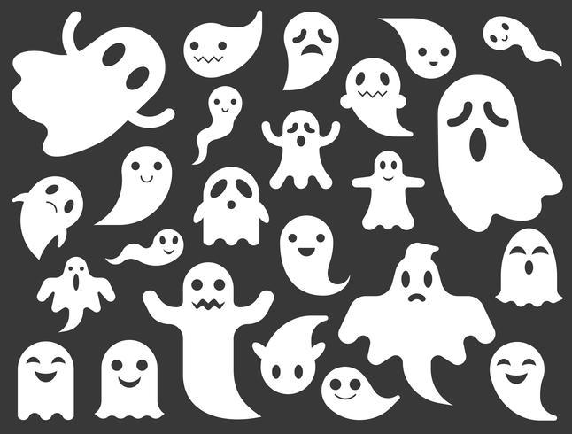 Vetor De Fantasma Ou Espirito Para O Halloween Design Plano