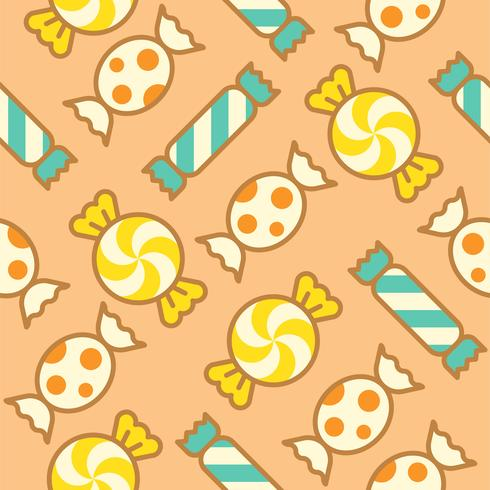 Sweets candy filled outline seamless pattern suitable  vector