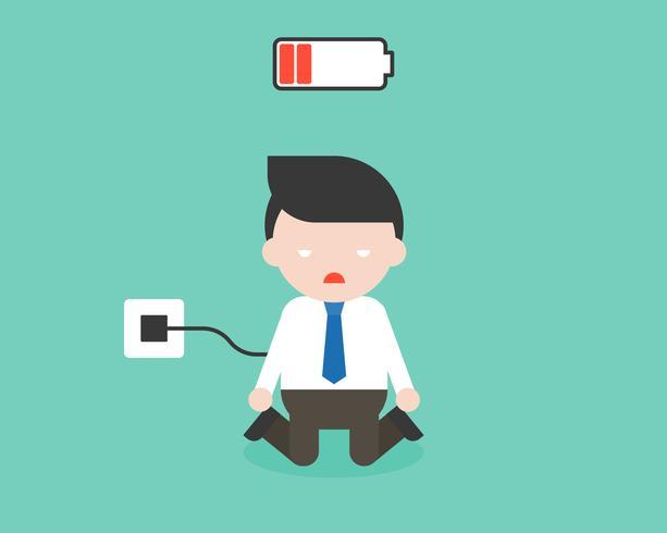 Aufladungsbatteriegeschäftsmann, Charakter gebrauchsfertig