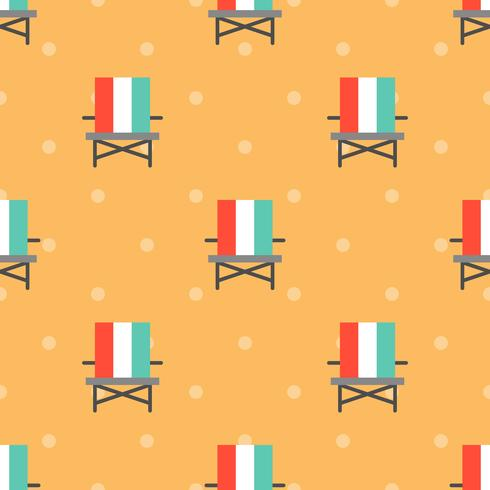 Beach chair seamless pattern for use as wrapping paper gift vector