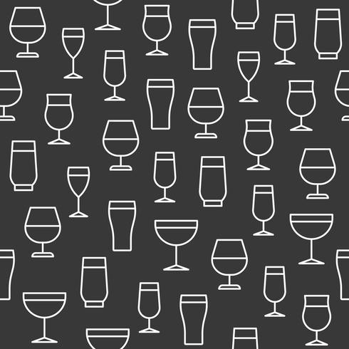 Gafas para bebidas sin patrón para papel tapiz o papel de regalo
