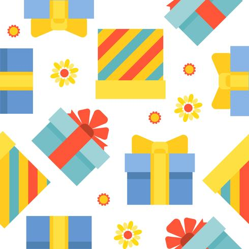 Present gift box seamless pattern suitable for use as wrapping paper gift vector