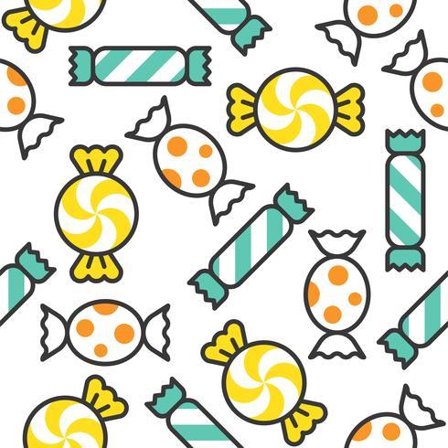 Dulces dulces rellenaron el esquema de patrones sin fisuras