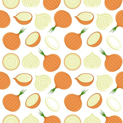 onion seamless pattern for wallpaper or wrapping paper vector