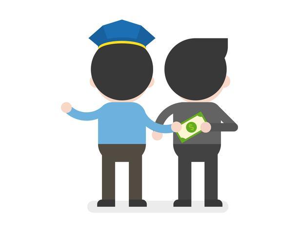 politie accepteert geld van zakenman, zakelijke situatie