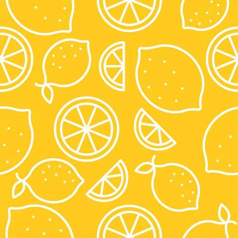 Lemon Tropical Fruit seamless pattern  vector