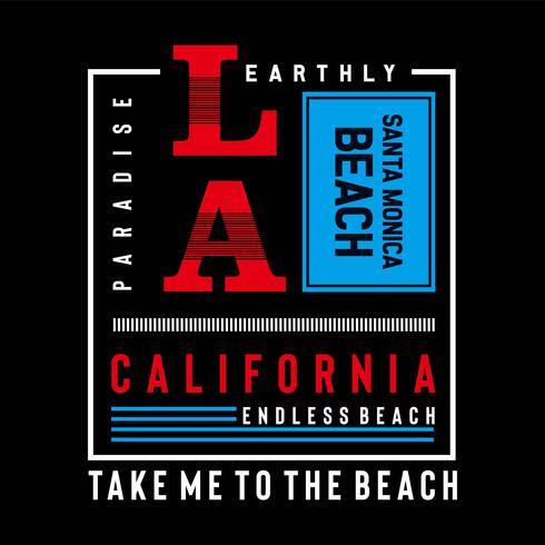 califórnia, design de los-angeles tipografia para o t-shirt