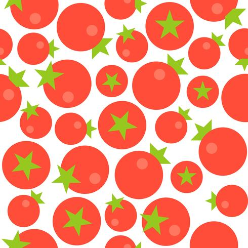 Tomato seamless pattern, flat design for use as wallpaper vector