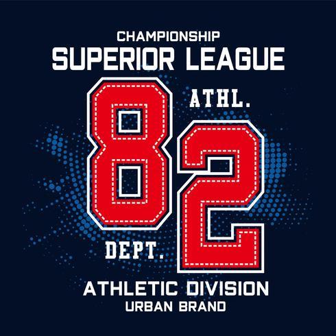 mästerskap sport typografi