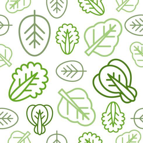 Naadloos overzicht plantaardig patroon voor behang of gebruik als verpakkend document