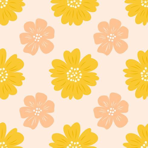 Patrón floral transparente, diseño plano para usar como fondo, papel de regalo o papel tapiz