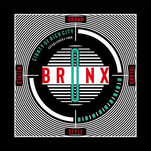 New York City stedelijke stijl t-shirt ontwerp grafische typografie