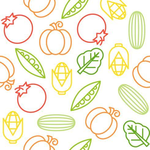 Plantaardig naadloos patroon, voor gebruik als behang of verpakkend document