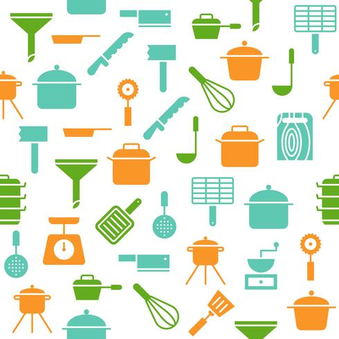 Kitchen Utensil Seamless Pattern Vector For Wallpaper Or Wrapping