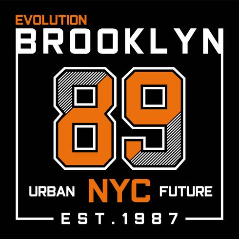 Evolutie Brooklyn New York City typografieontwerp