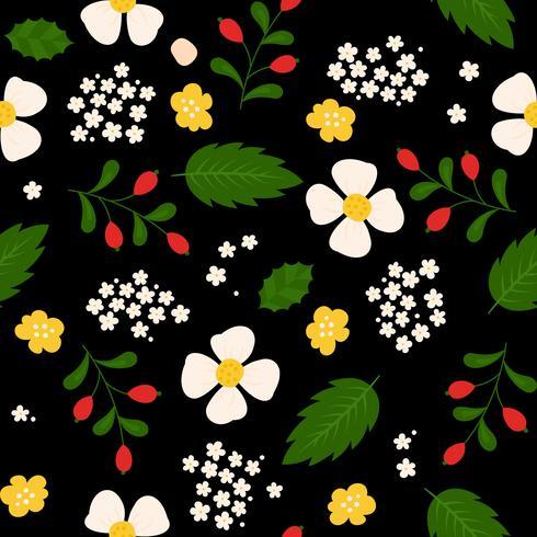 motif floral de transparente, design plat à utiliser comme arrière-plan, papier d'emballage ou papier peint