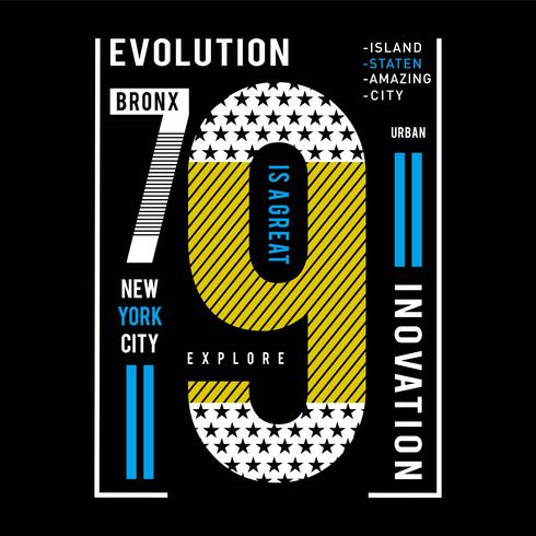 explore new york city typography tee design vector