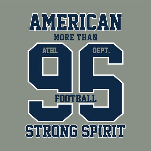 grafica di t-shirt tipografia sport calcio