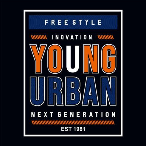 tipografía urbana diseño gráfico camiseta
