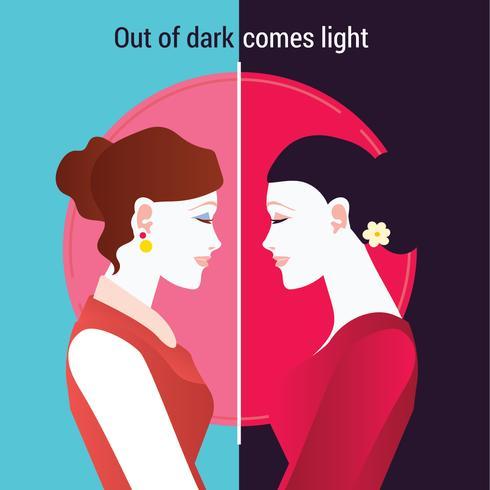 Happy Kartini's Day. Vrouw bij Mirror of the Future