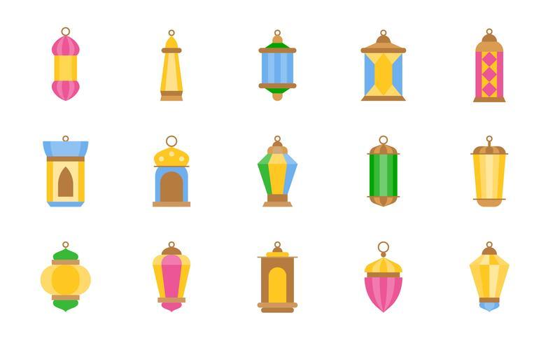 Lámpara árabe o linterna de Ramadán vector