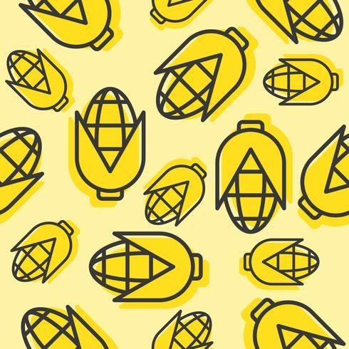 Het naadloze patroon van het graan, schetst plantaardig behang