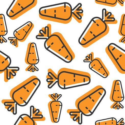 Wortel naadloos patroon, overzichts plantaardig behang