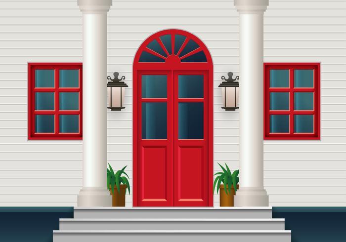 Gesloten rode deur