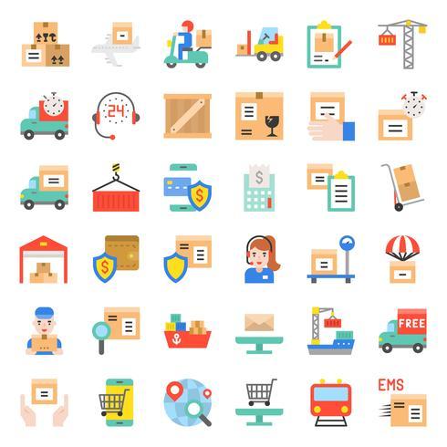 Logistiek en verzendbedrijf pictogram