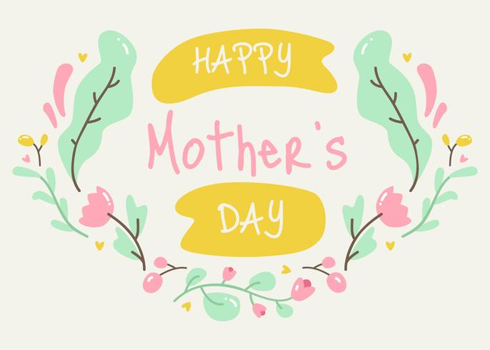 Feliz dia das mães vector
