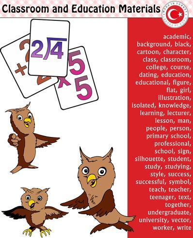 Studente della scuola, insegnante, silhouette, personaggi dei cartoni animati, ragazzo, ragazza, maschio, femmina, insegnante, materiale scolastico, cancelleria - eps, vettoriale