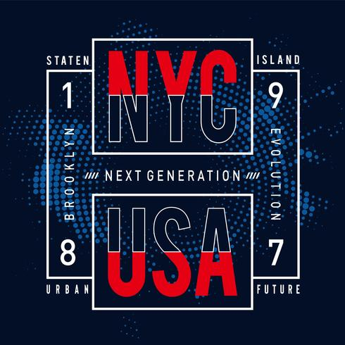 design de tipografia de próxima geração para t-shirt