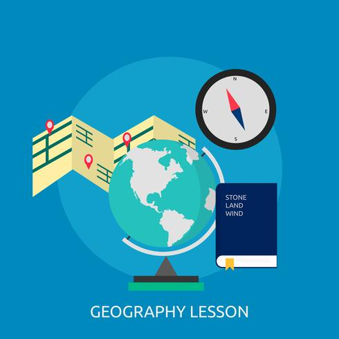 Geopgraphy Lesson Konceptuell illustration Design