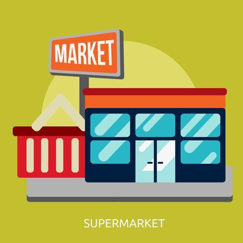 Supermercado Conceptual Ilustración Diseño