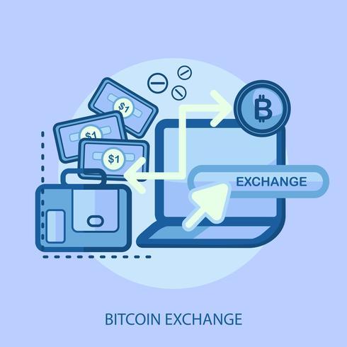 Bitcoin Exchange Conceptual illustration Design vector