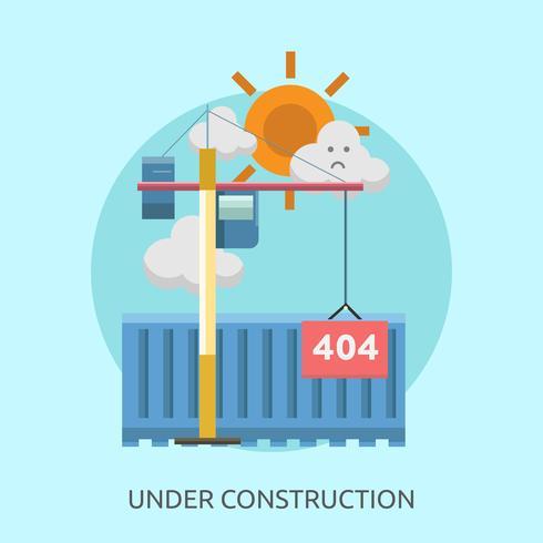 Bajo Contruccion. Ilustración conceptual. Diseño.