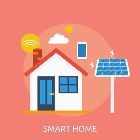 Smart Home Conceptual Ilustración Diseño