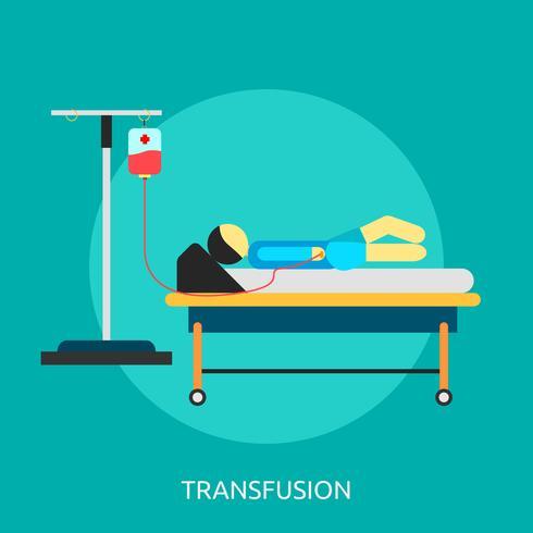 Transfusie Conceptueel illustratieontwerp