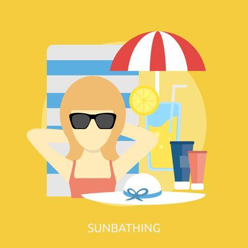 Zonnebaden Conceptuele afbeelding ontwerp