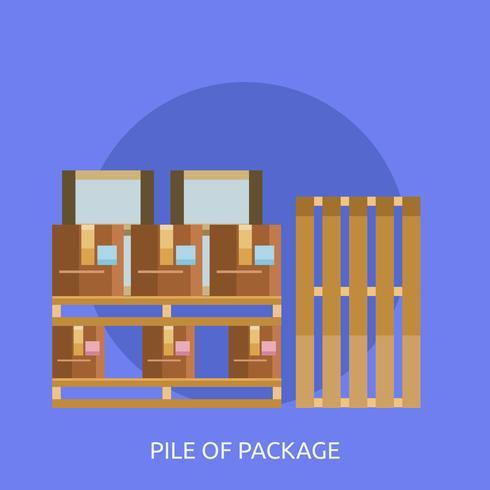 Stapel van Conceptuele illustratie pakketontwerp vector