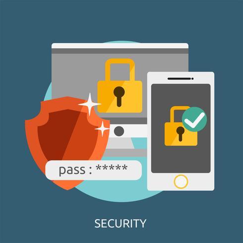 security Conceptual illustration Design vector