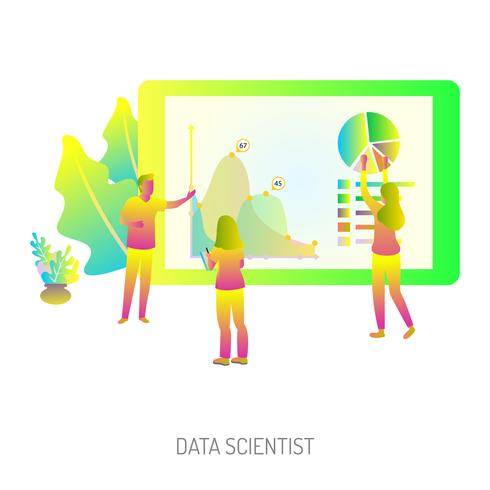 Dataforskare CConceptual Illustration Design