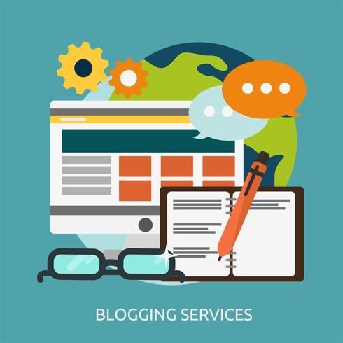Bloggen diensten Conceptuele afbeelding ontwerp