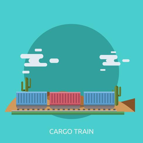 Cargo Train Conceptual illustration design vetor