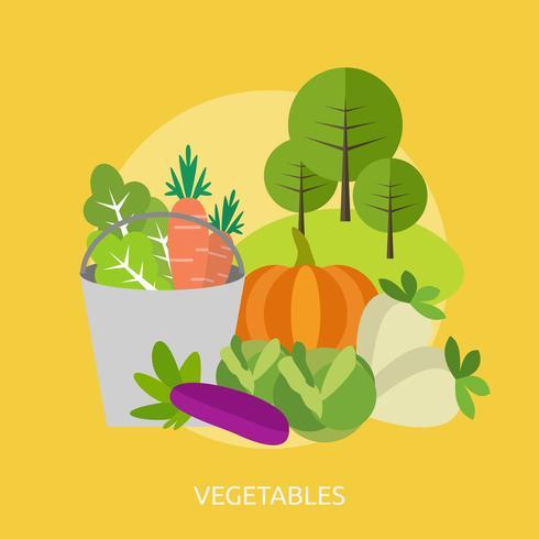 Progettazione concettuale dell'illustrazione delle verdure