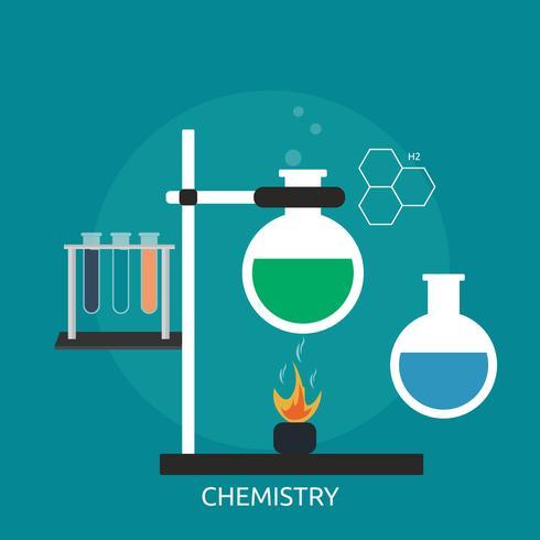 Chemie Conceptuele afbeelding ontwerp