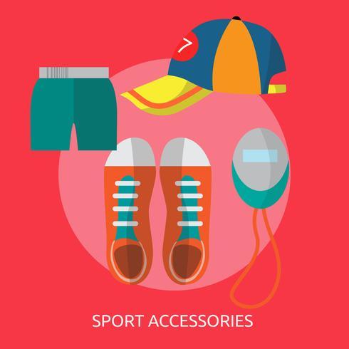 Sportaccessoires Conceptuele afbeelding ontwerp